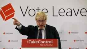 London Mayor Boris Johnson speaks at a Vote Leave rally in Newcastle